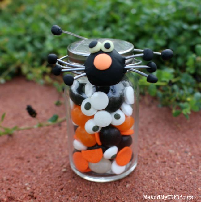 Clay Spider Candy Jar
