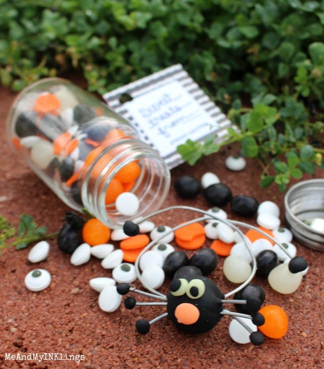 Clay Spider Candy Treat Jar