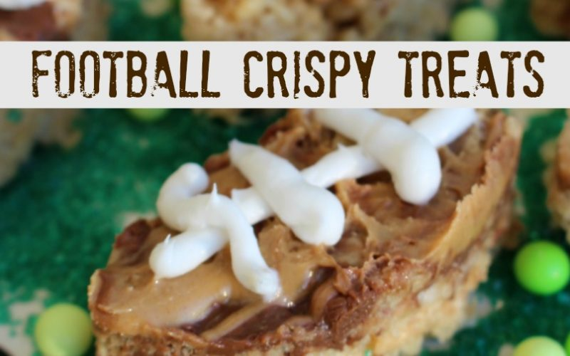 Peanut Butter and Chocolate Football Crispy Treats for #GameDayGreats