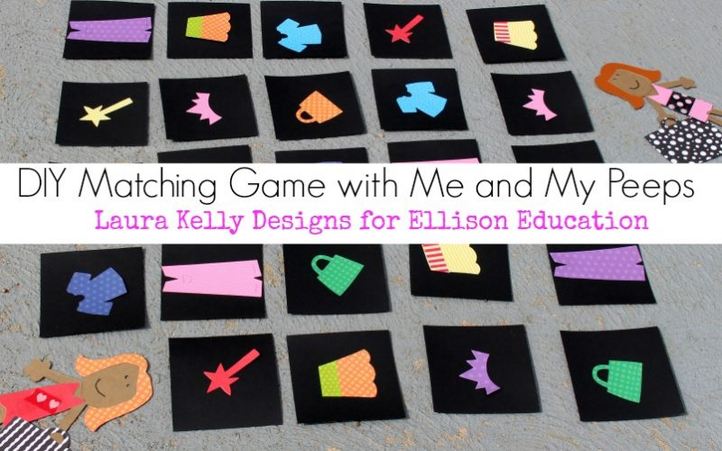 DIY Matching Game with Ellison Me and My Peeps Die