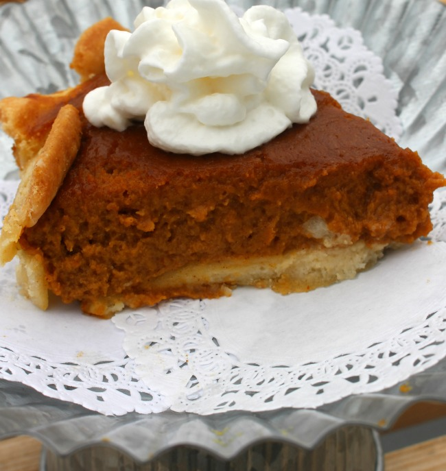 Gluten Free Dairy Free Pumpkin Pie Close Up