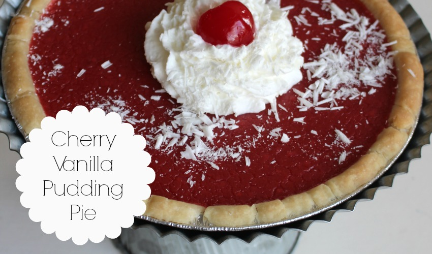 Cherry Vanilla Pudding Pie - Laura Kelly's Inklings