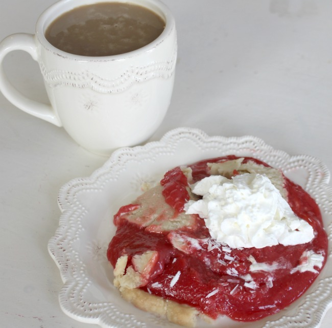Cherry Vanilla Pudding Pie with Coffee