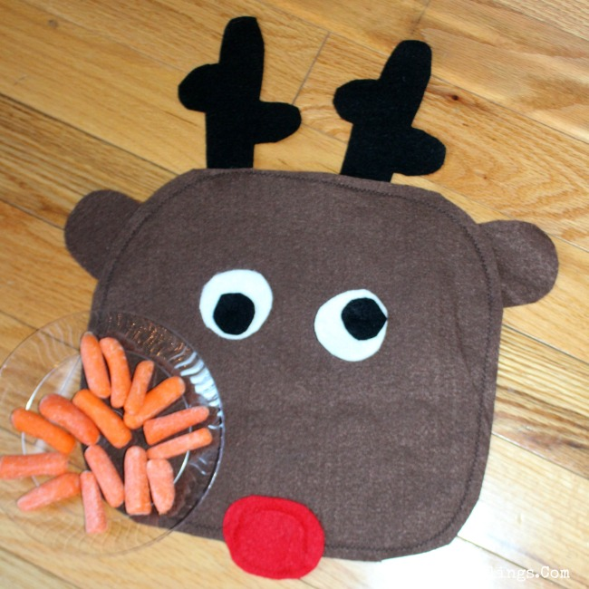 Reindeer Snack Mat Close Up