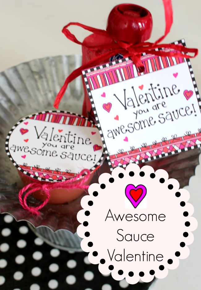 Awesome Sauce Valentine Label