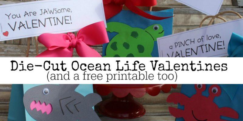 Die Cut Ocean Life Valentines Label