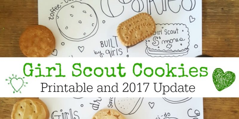 Girl Scout Cookies Doodle Coloring Printable Label