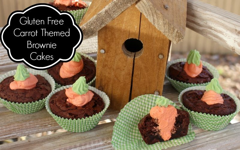 Carrot Themed Krusteaz Gluten Free Brownie Cakes