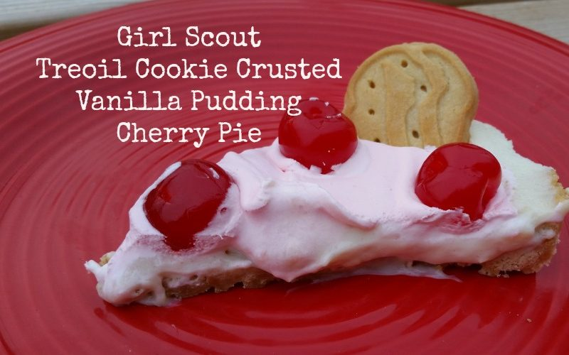 Trefoil Crusted Vanilla Pudding #CherryMan Pie