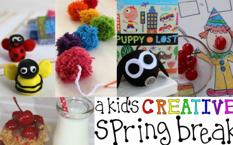 A Kid's CREATIVE Spring Break with Crafts