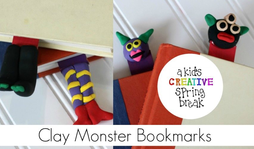 Diy Polymer Clay Monster Bookmarks With Sculpey