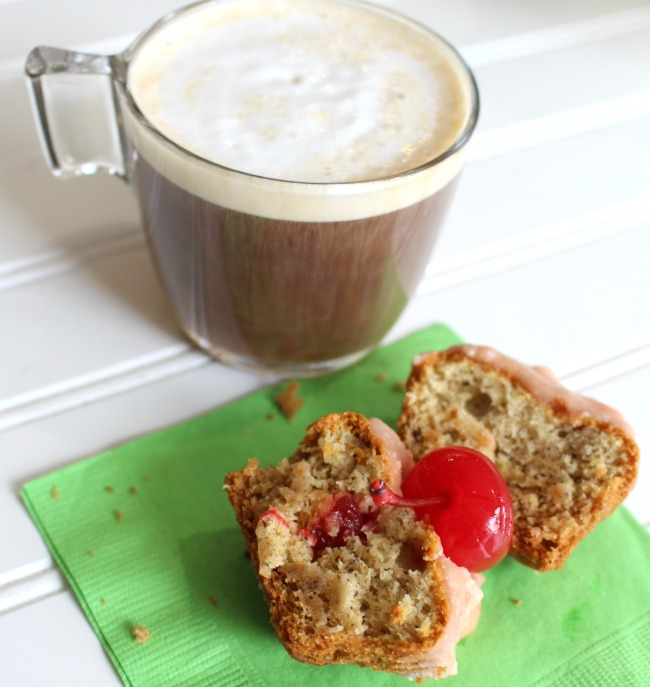 Cherry Banana Muffins for Moms