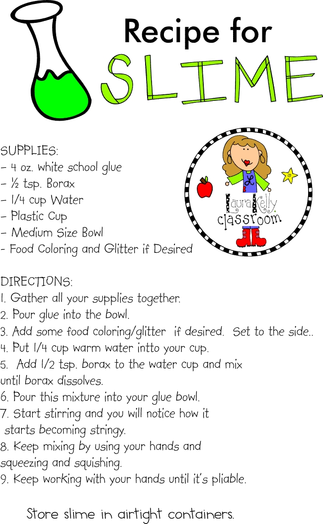 graphic relating to Slime Recipe Printable referred to as Deliver Archives - Laura Kellys Inklings