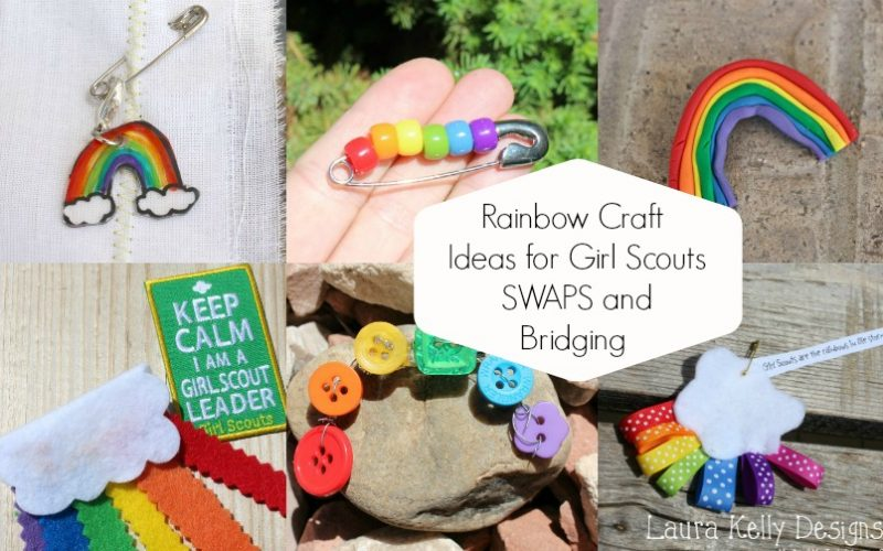 Ten Rainbow Crafts for Girl Scout Bridging and SWAPs