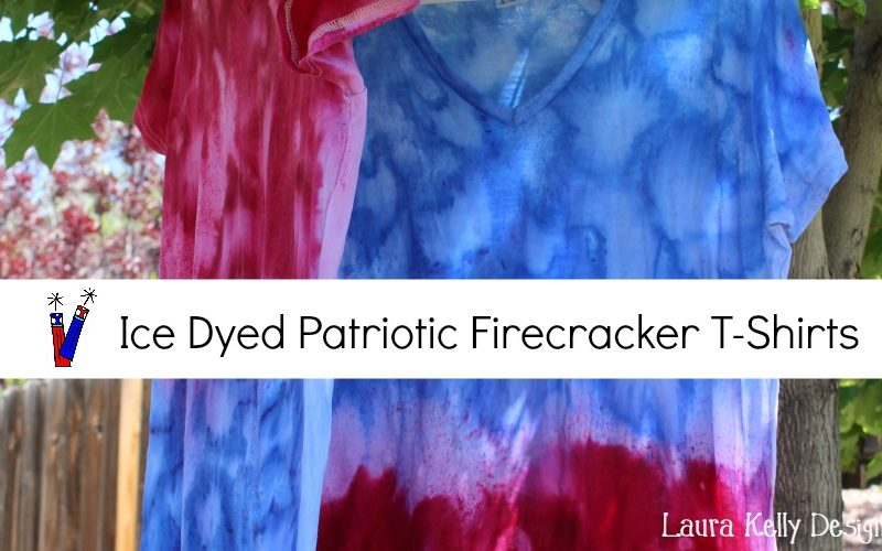 Ice Dyed Patriotic Firecracker T-Shirts
