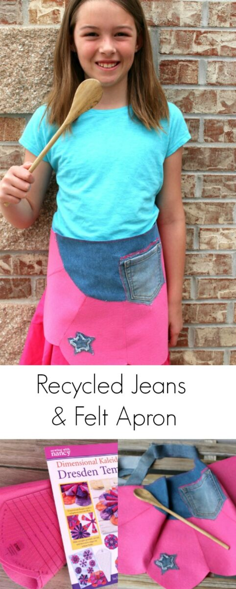 Recycled Jeans Denim Apron Free Pattern