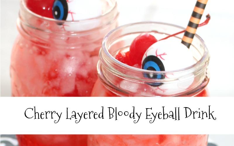 Layered Cherry Bloody Eyeball Drink