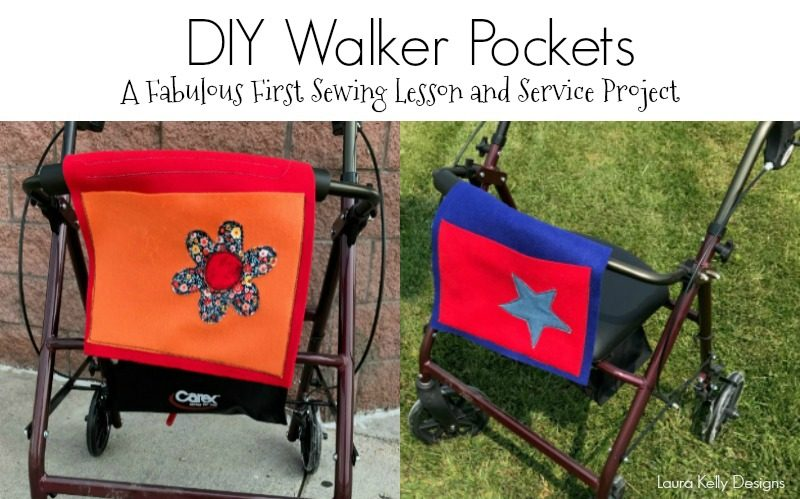 DIY Pockets for Walkers as  Service Project