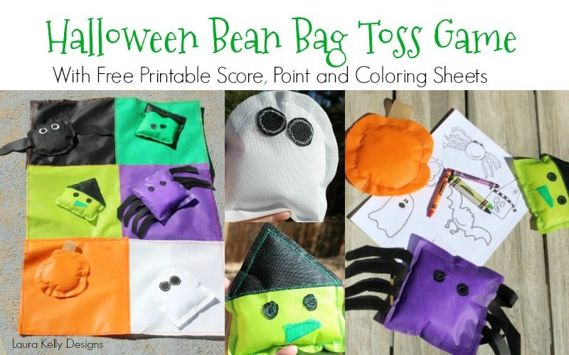 Halloween Monster Toss Game with a Printable Score Card