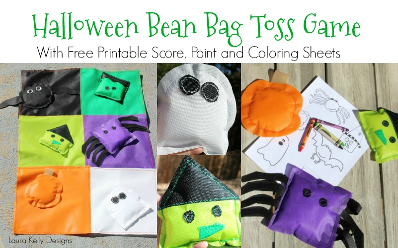 graphic regarding Printable Bean Bag Toss Rules known as Halloween Monster Throw Video game with a Printable Ranking Card