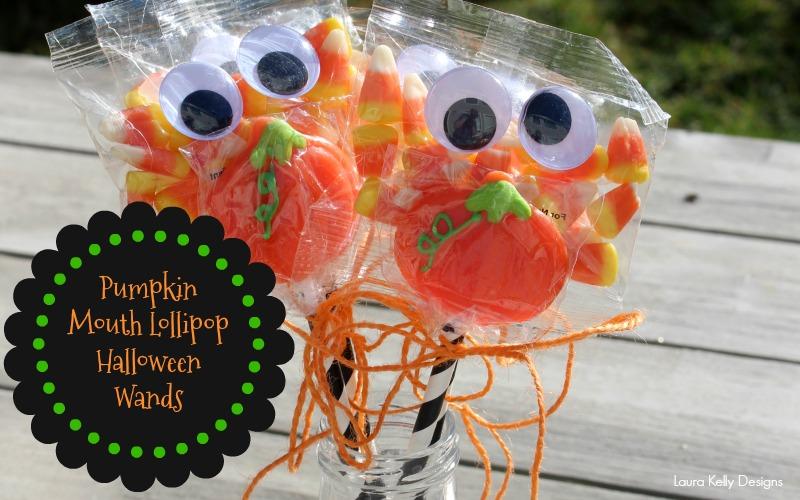 Pumpkin Mouth Lollipop Halloween Wands