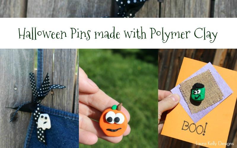 Sculpey Clay Halloween Pins