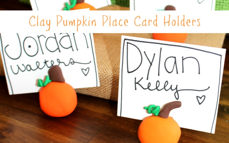 Clay Pumpkin Place Card Holders