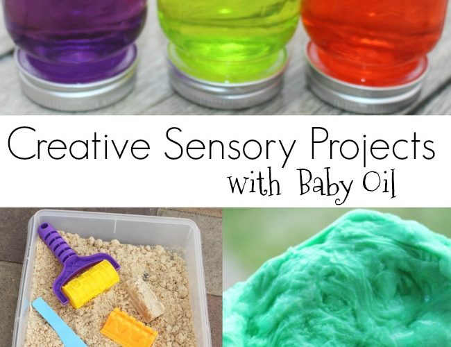 Awesome Sensory Projects with Baby Oil