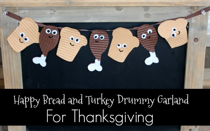 Cute Little Thanksgiving Drummy and Bread Garland