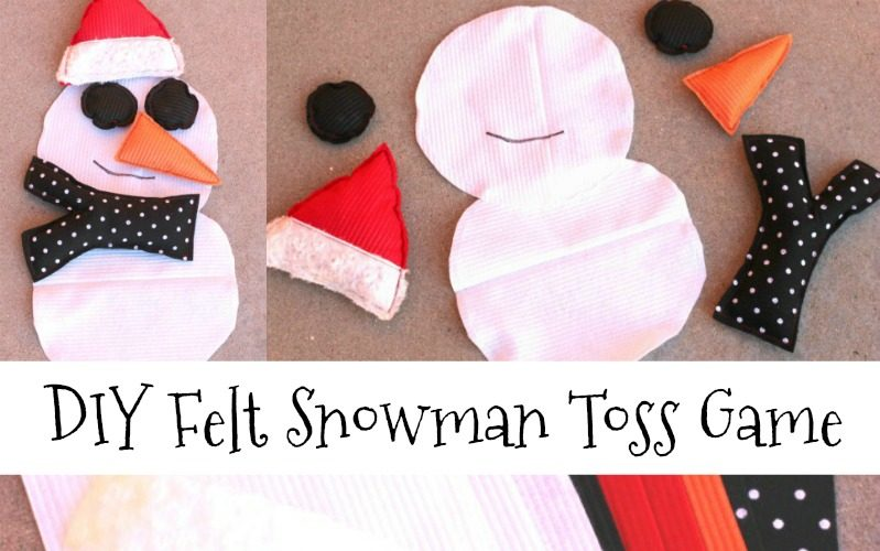 DIY Felt Winter Snowman Bean Bag Toss Game