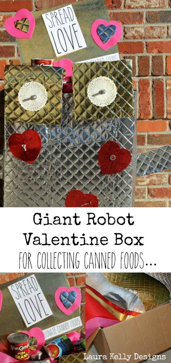 Food Drive Collection Box Valentines Day