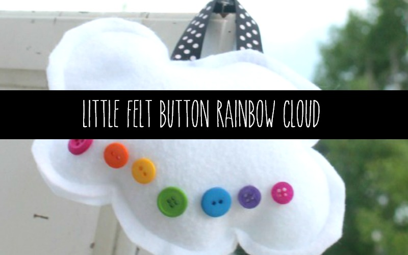 Little Felt Rainbow Cloud