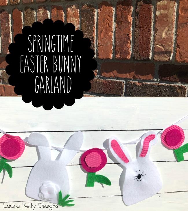 Springtime Easter Bunny Garland Kunin Felt