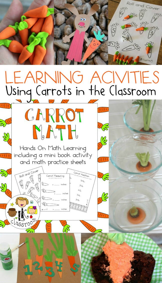 Carrot Math Learning Activity Pack for Classroom and Home School