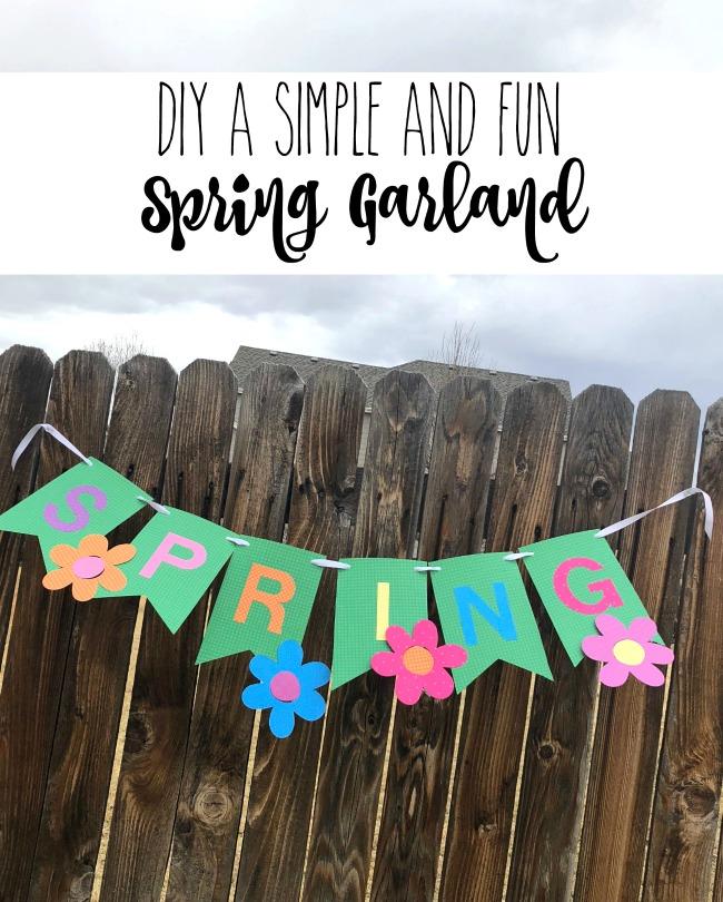 DIY Spring Garland Paper Papercrafting