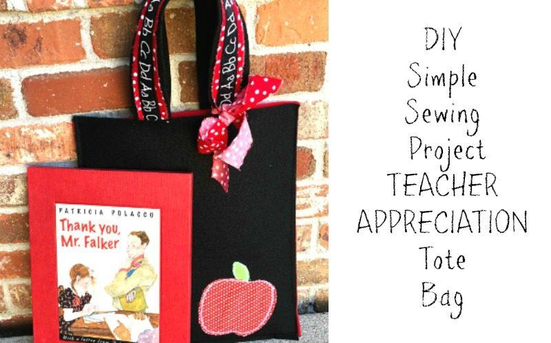 DIY Quick Sew Totes for Teacher Appreciation