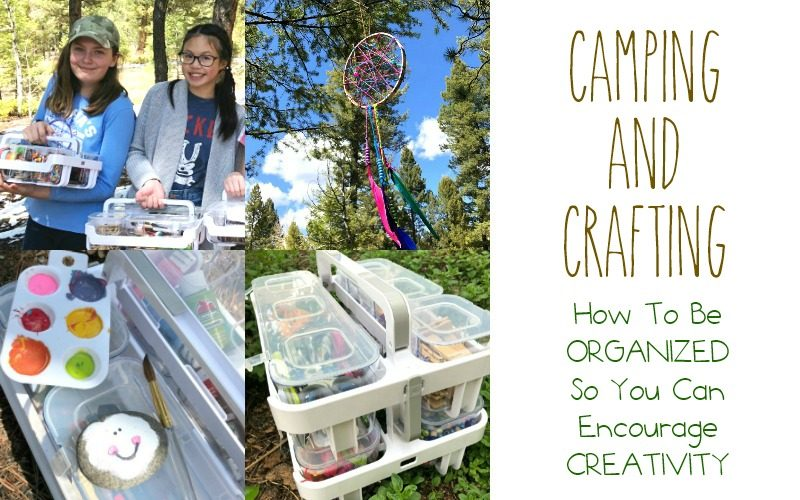 Organized and Creative Crafting While Camping