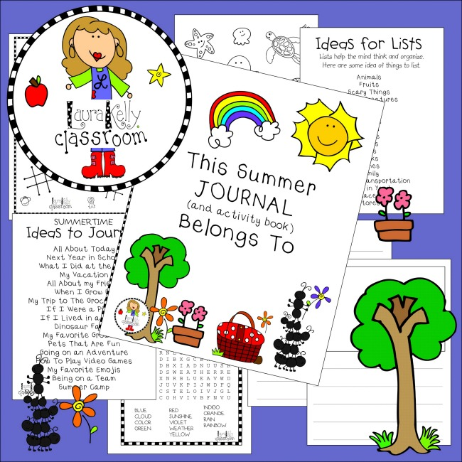 Summer Activity  Journal Printable