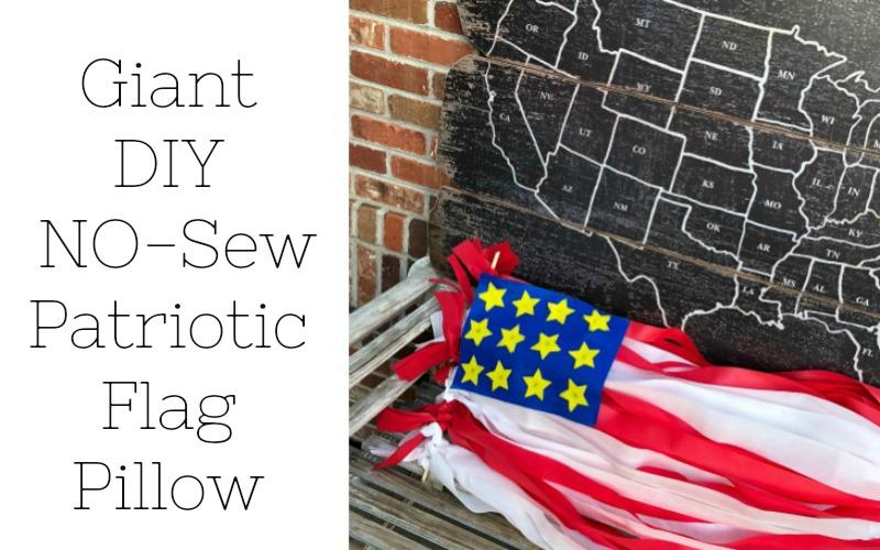 Giant No Sew Patriotic Flag Pillow
