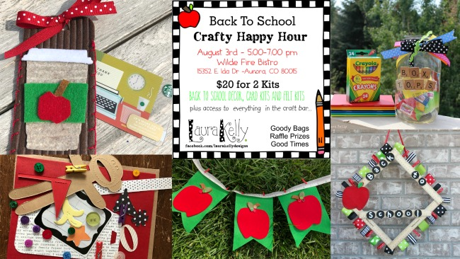 Crafty Happy Hour – Back to School – Friday, August 3rd!