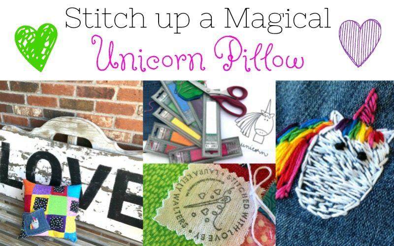 Stitch Up a Magical Unicorn Pocket Pillow