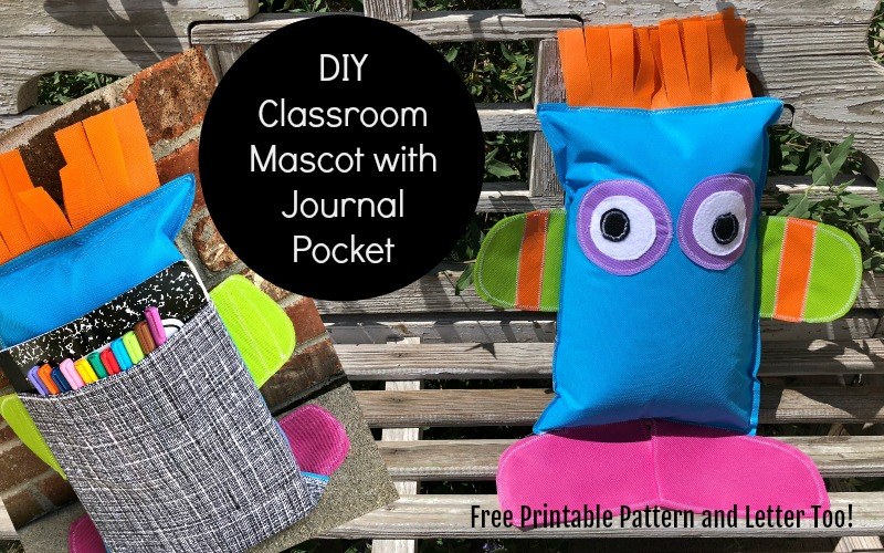 Classroom Mascot with a Journal Pocket