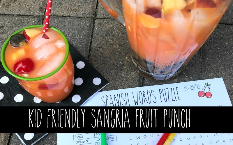 Back to School Non-Alcoholic Sangria Mocktail