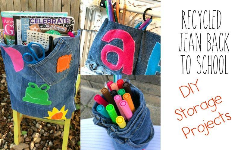 Recycled Jeans and Felt Useful Classroom Decor Ideas