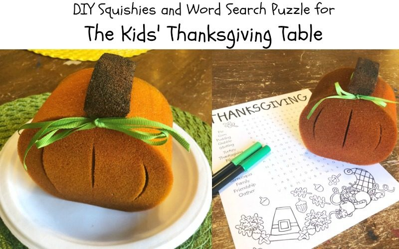 DIY Squishies for the Thanksgiving Kids' Table