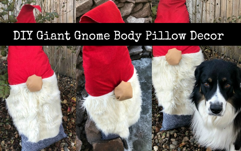 Gnome Pillow Holiday Decoration