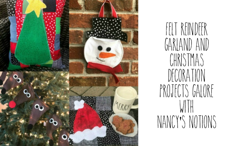 Felt Reindeer Garland and Christmas Decoration Projects Galore