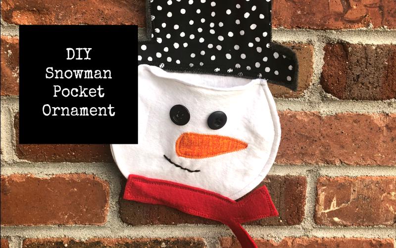 Snowman Pocket Ornament