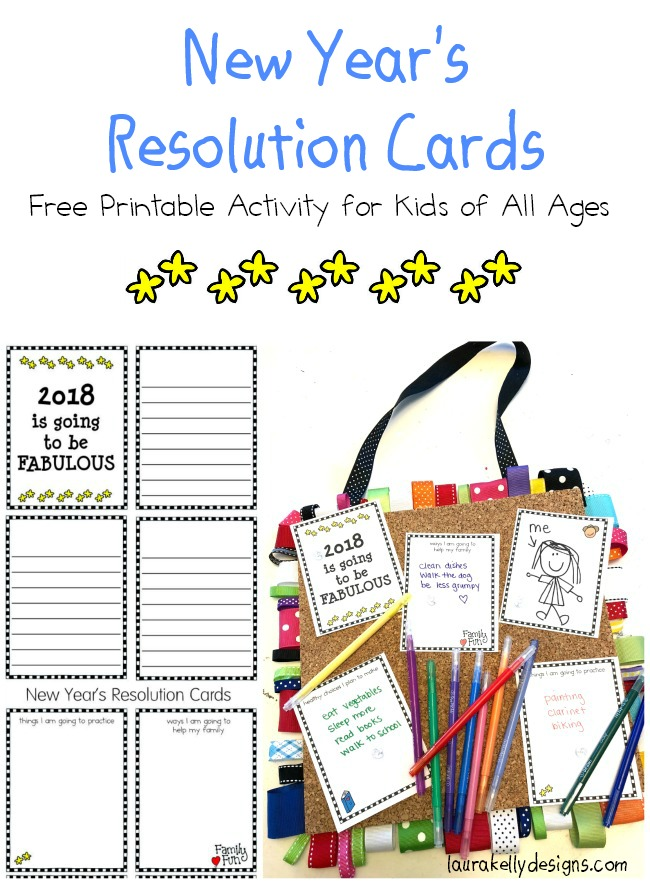 New Year's Resolution Printable For Kids