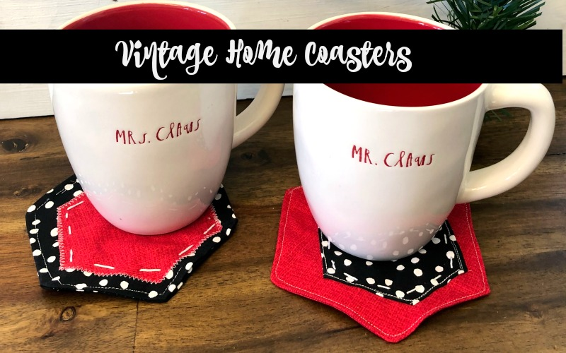 Vintage Home Sewing Holiday Coasters